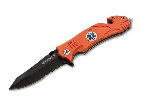Taschenmesser, Orange, Flipper, Linerlock, 440A, Aluminium