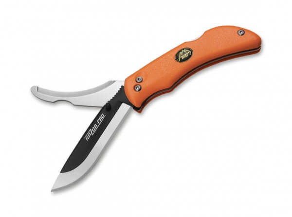 Taschenmesser, Orange, Daumenpin, Backlock, 420J2, Kunststoff