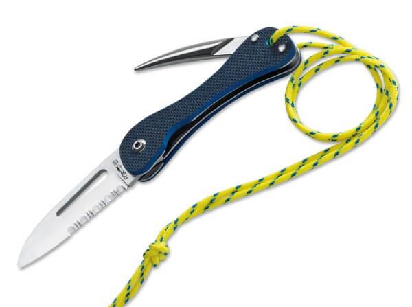 Taschenmesser, Blau, Daumenöffnung, Linerlock, 420C, G10