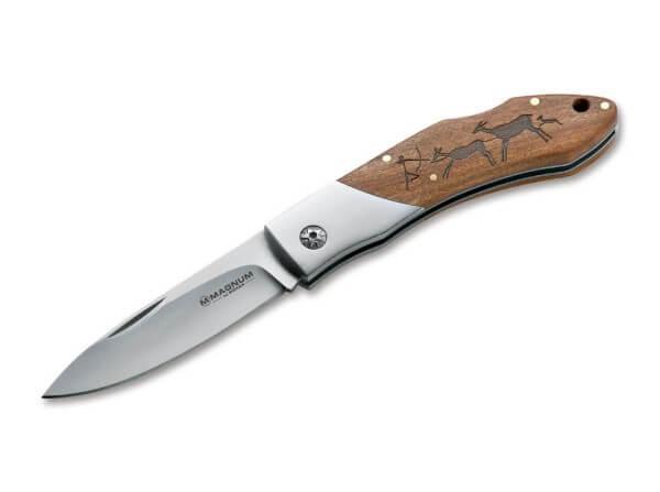 Taschenmesser, Nagelhau, Backlock, 440A, Holz