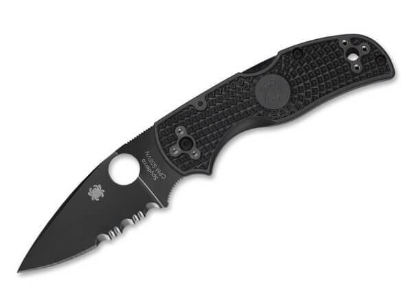 Taschenmesser, Schwarz, Daumenöffnung, Backlock, CPM-S-35VN, FRN