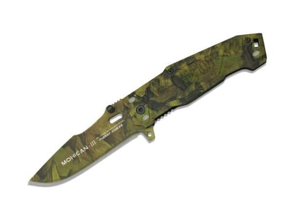 Taschenmesser, Grün, Flipper, Linerlock, 7Cr17MoV