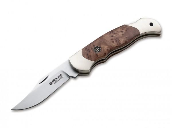 Taschenmesser, Braun, Nagelhau, Backlock, N690, Thujaholz
