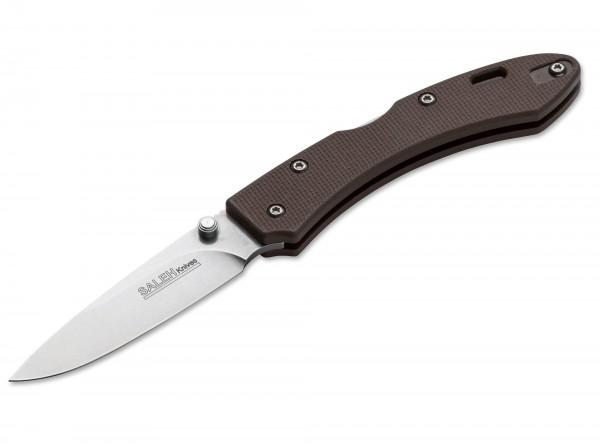Taschenmesser, Braun, Backlock, N690, G10